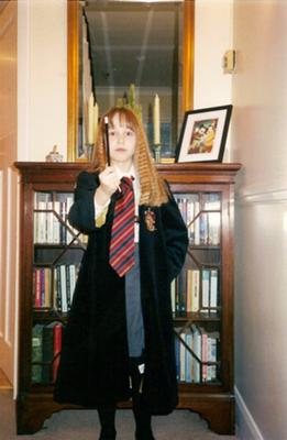 This is me dressing up as Hermione when I was about 10 years old for world book day at my school.