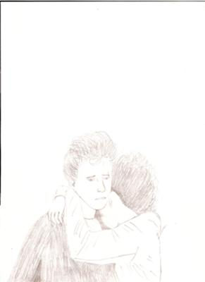 This is picture I drew of Ron and Hermione from the third film